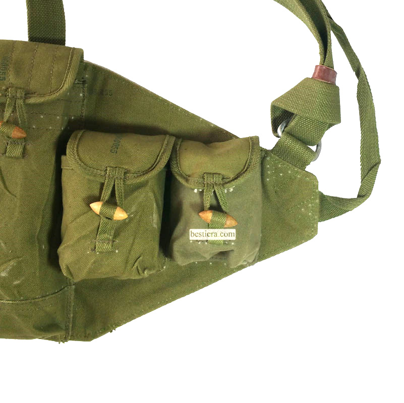 Original Item Russia AK-47 or Chicom Type 56 Chest Rig PLA Ammo Pouch