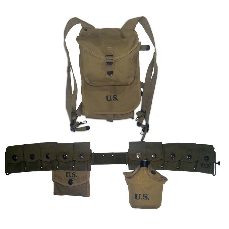Repro WW2 WWII US Army M1 Rifle Equipment Solid Set 10 Cell Belt