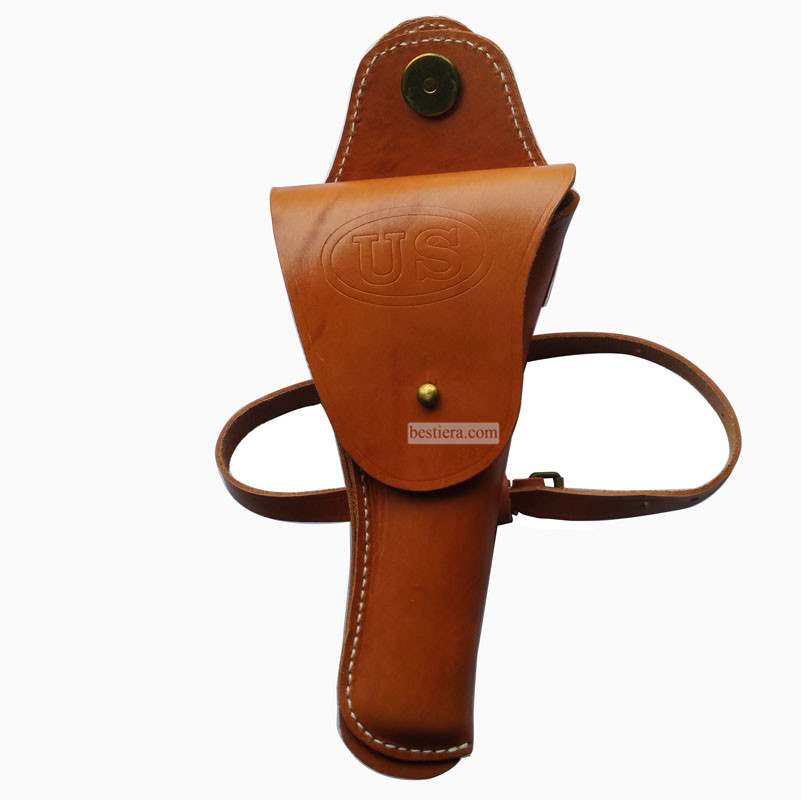 WW2 US COLT TYPE 1911 CAVALRY BROWN WITH LEG STRAP RIG