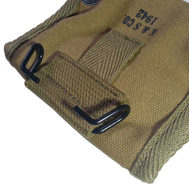 REPRODUCTION KHAKI WWII COLLECTION WW2 US ARMY LENSATIC COMPASS POUCH BAG