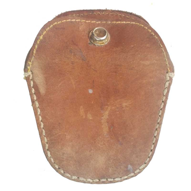 ORIGINAL SURPLUS CHINESE PLA GOGGLE POUCH CASE LEATHER BOX