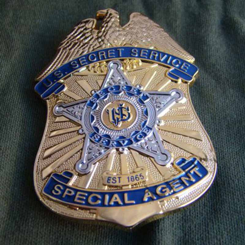 US SPECIAL AGENT PIN BADGE COLLECTION META COPPERL MATERIAL U.S. SECRET SERVICE GOLDEN COLOR