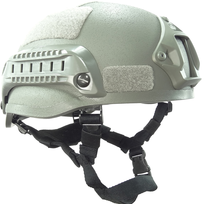 Grey Tactical Mich 2002 Tactical Helmet For Airsoft Paintball