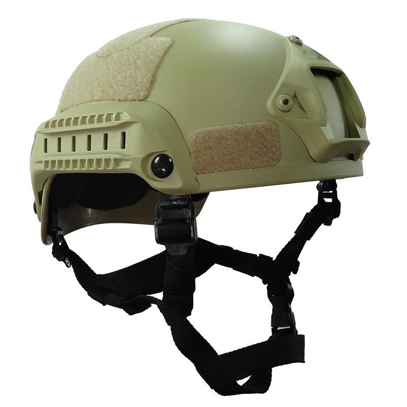 Tan Green MICH 2001 Airsoft Helmet Tactical Outdoor with Rail