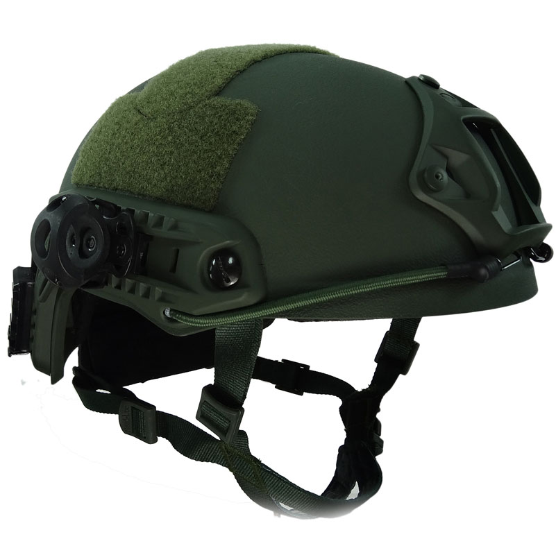 Green Fast Helmet MH Type Bump Jump Shroud with Side Rail