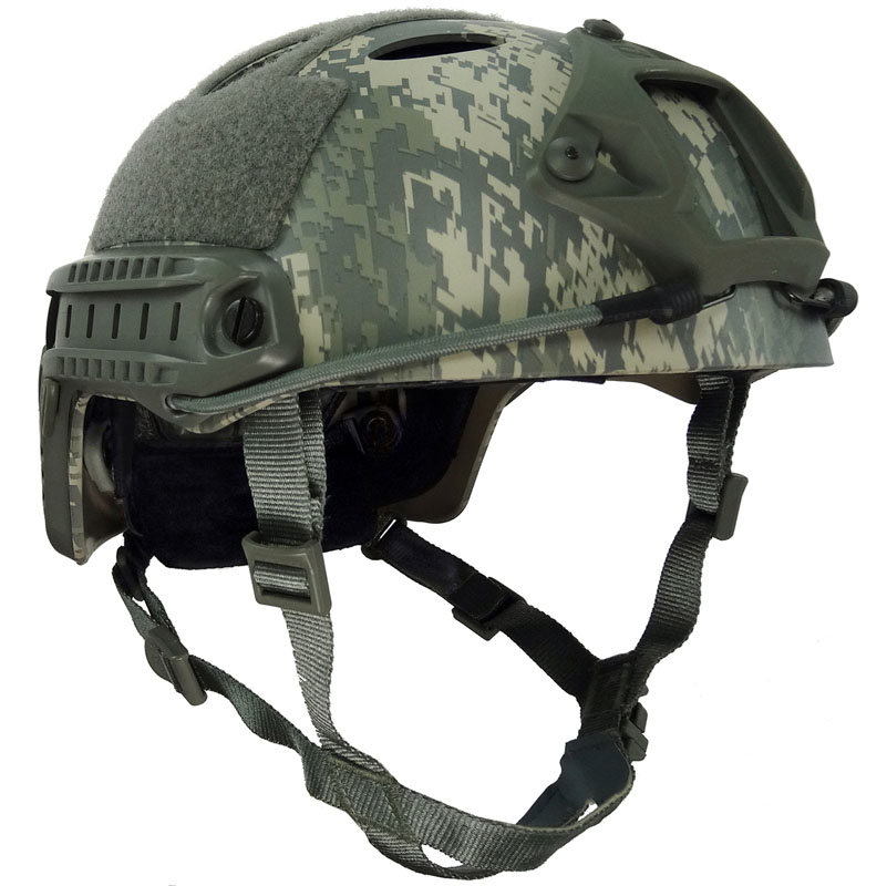 ACU Tactical Military Style Fast Helmet PJ Version with Rails