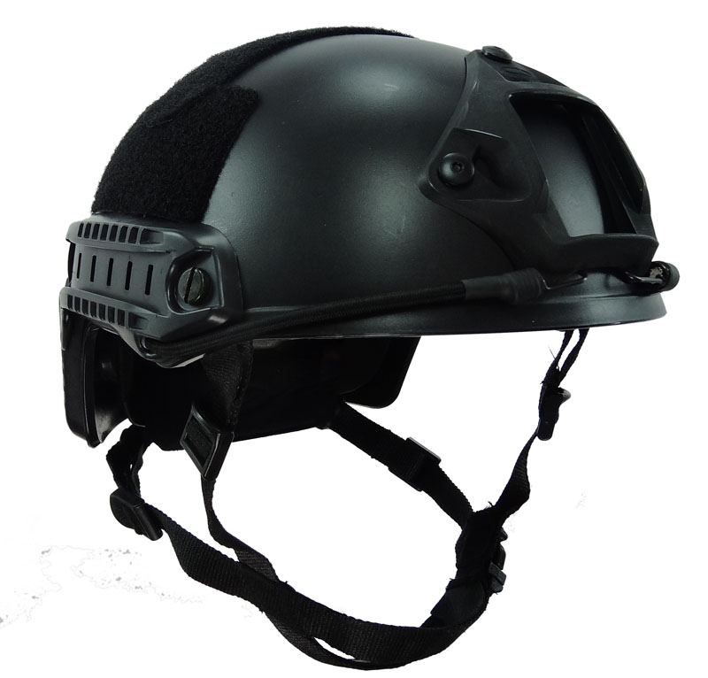 Tactical Black Fast Helmet MH Version Bump Jump Type Shroud