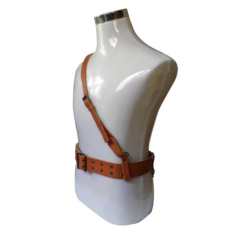 CHINESE ARMY ARMED PISTOL BELT AND CROSS SHOULDER STRAP