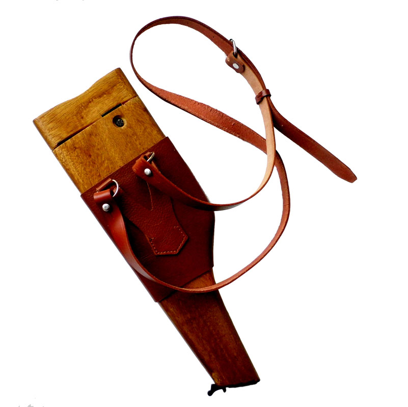 Reproduction Right Handed WW2 Mauser Broomhandle Holster C96 Mauser Wood Holster and Stock