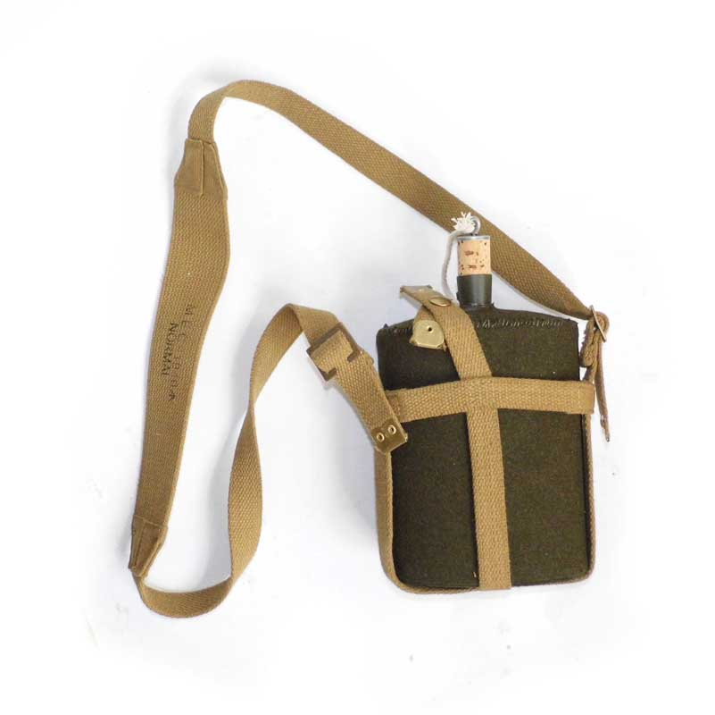 WW2 REPLICA WWII BRITISH ARMY UK P37 CANTEEN WITH WEBBING