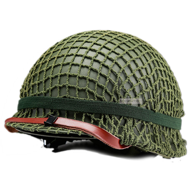 WW2 WWII US Repro M1 Helmet Green Army Version Full Set