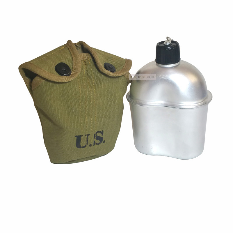 WW2 US Army Canteen M36 Aluminum Material Marked US Cover