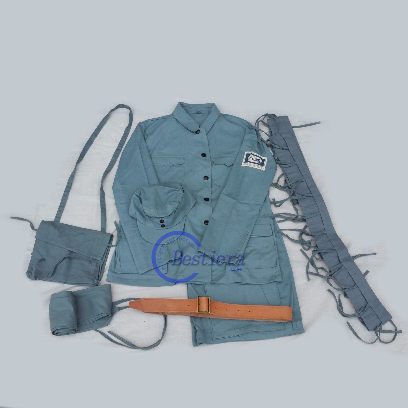 WW2 WWII KMT REPLICA CHINA EIGHT ROUTE ARMY UNIFORM FULL SET