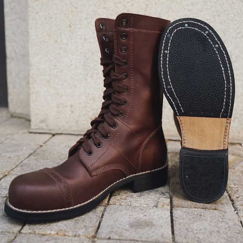 Ww2 Us Historic Replica Paratrooper Boot Leather Brown