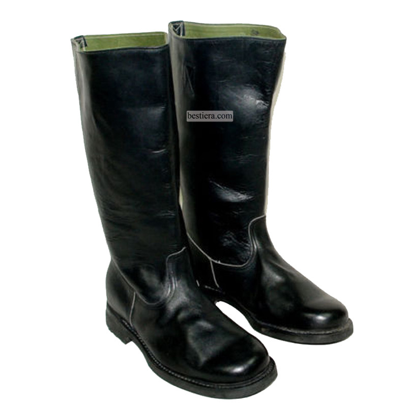 WWII WW2 GERMAN EM LEATHER MARCHING BOOTS